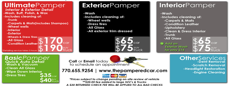 The Pampered Car Mobile Auto Detailing